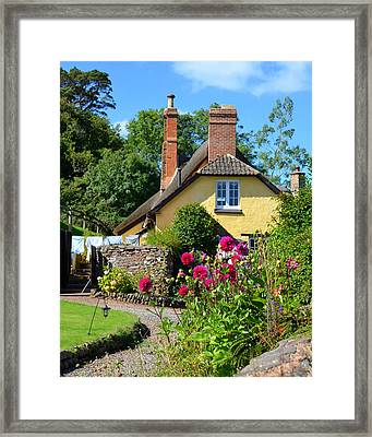 Everyday Life In Somerset Framed Print by Carla Parris