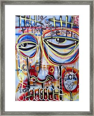 Everyone Wants To Change The World Framed Print by Robert Wolverton Jr