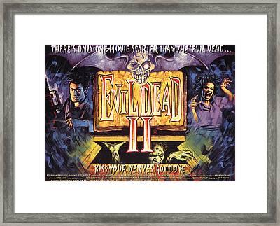 Evil Dead II, Left, Bruce Campbell Framed Print by Everett