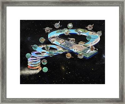 Evolution Of Life, Artwork Framed Print by Jose Antonio PeÑas