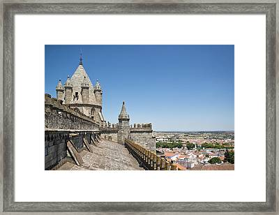 Evora View From Rooftop Of Cathedral Evora, Framed Print by Stefan Cioata