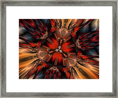 Excitement In Red Framed Print by Claude McCoy