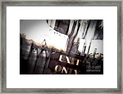 Exit Only Framed Print by Pixel Perfect by Michael Moore