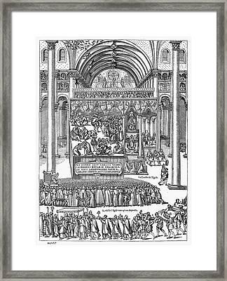 Exorcism, 1566 Framed Print by Granger