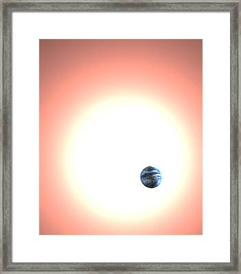 Expanding Sun And The Earth, Artwork Framed Print by Christian Darkin