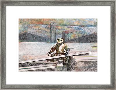 Experienced Craftsman Framed Print by Al Goldfarb