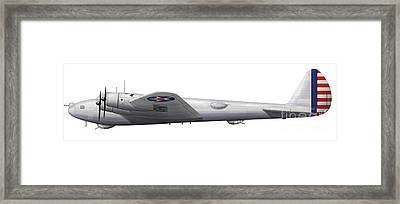 Experimental Boeing Xb-15 Bomber Framed Print by Chris Sandham-Bailey