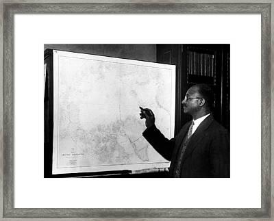 Explorer Matt Henson, Who Co-discovered Framed Print by Everett