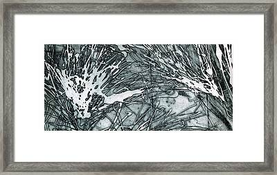 Explosion Framed Print by Rebecca Bourke