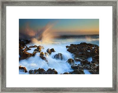 Explosive Dawn Framed Print by Mike  Dawson