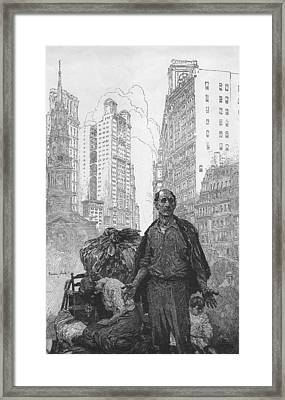 Expressive Engraving Depicting An Framed Print by Everett