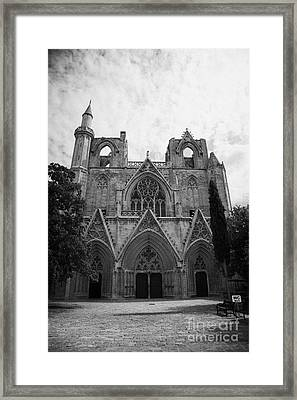 Exterior Of Lala Mustafa Pasha Mosque Old Town Of Famagusta Turkish Republic Of Northern Cyprus Framed Print by Joe Fox
