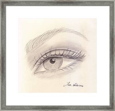 Eye Close Up Framed Print by M Valeriano