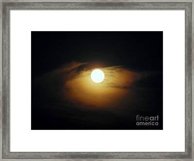 Eye Moon Framed Print by Mariana Robu