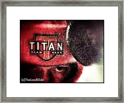 Eye Of The Tiger Framed Print by Ronnie Glover