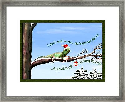 Ezekiels Christmas Framed Print by Susan Kinney