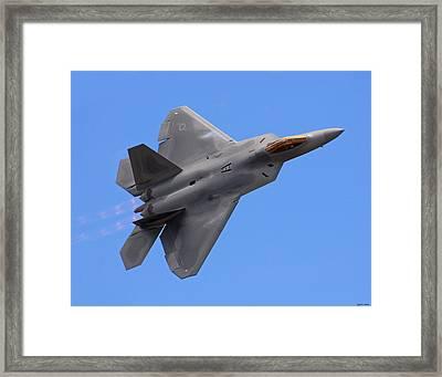 F-22 03 Framed Print by Jeff Stallard