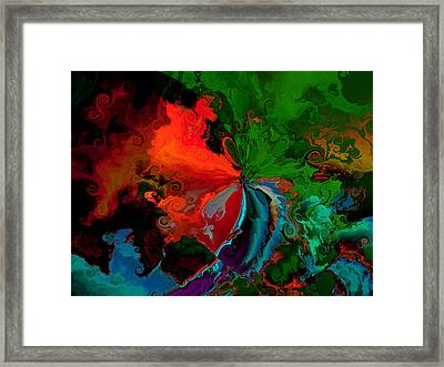Faa Abstract 3 Invasion Of The Reds Framed Print by Claude McCoy