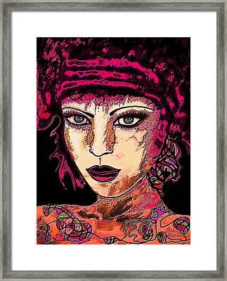 Face 13 Framed Print by Natalie Holland