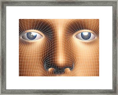 Face Biometrics Framed Print by Pasieka