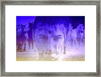 Face Concern Framed Print by Mark Ashkenazi