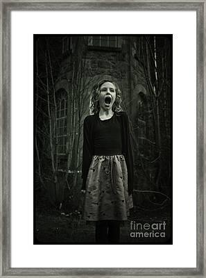 Face Framed Print by MrsRedhead Olga