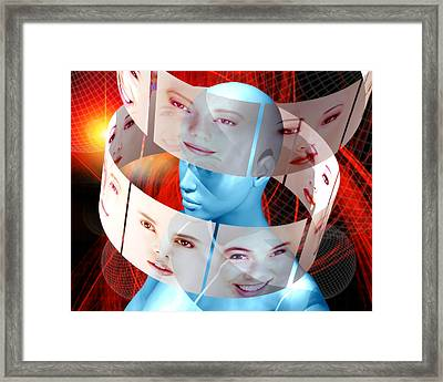 Face Transplant Framed Print by Victor Habbick Visions