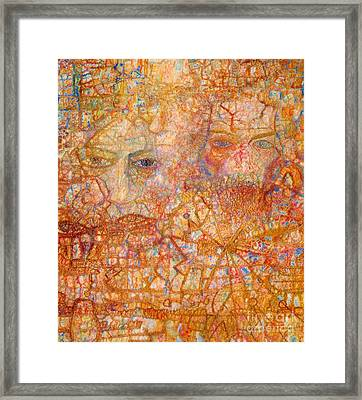 Faces On An Icon Framed Print by Pg Reproductions