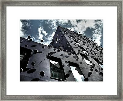 Fachada Con Los Ojos - Barcelona Framed Print by Juergen Weiss