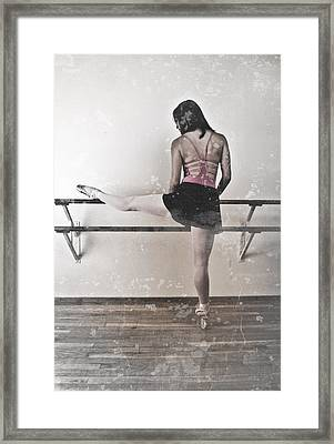 Faded Ballerina Framed Print by Scott Sawyer