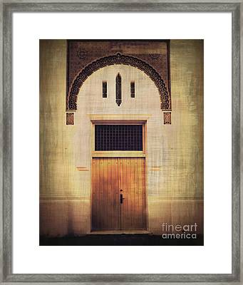 Faded Doorway Framed Print by Perry Webster