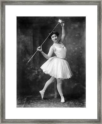 Fairy Costume Framed Print by Reinhold Thiele