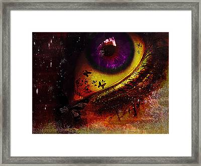 Fairy Eye Framed Print by Yvon van der Wijk