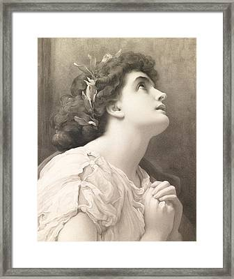 Faith Framed Print by Frederic Leighton