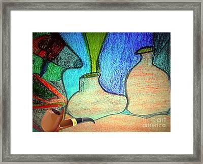 Fake Pipe Framed Print by Fania Simon