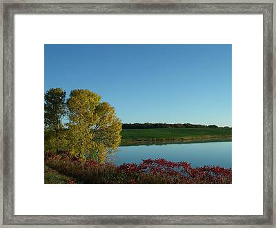 Fall Color By The Lake Framed Print by Brian  Maloney