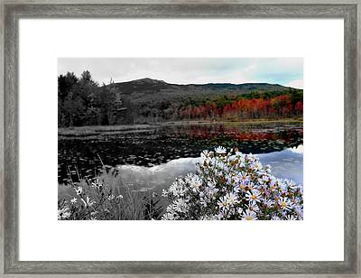 Fall Creeps In Framed Print by Rick  Blood