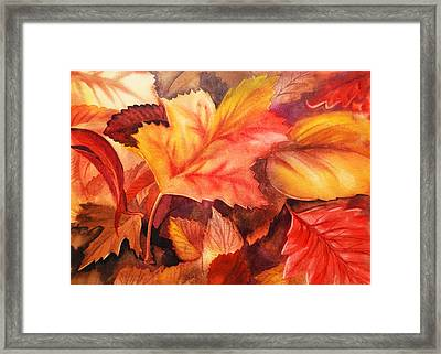 Fall Leaves Framed Print by Irina Sztukowski