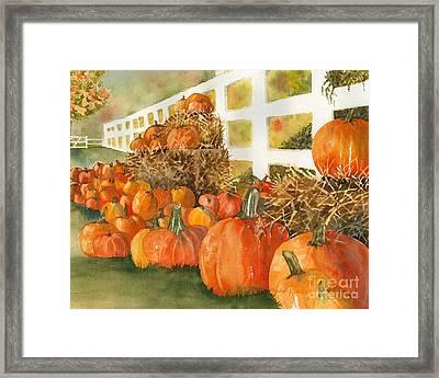 Fall Pumpkins Framed Print by Laura Ramsey