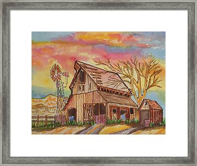 Fall Storms Coming Framed Print by Connie Valasco