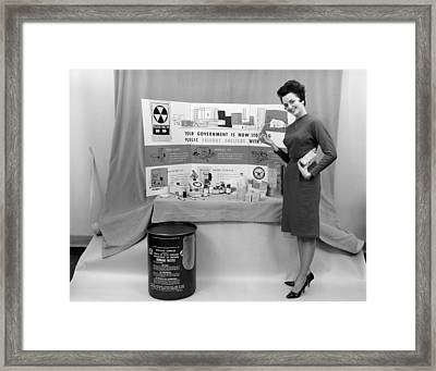 Fallout Shelter Supplies, Usa, Cold War Framed Print by Us National Archives And Records Administration