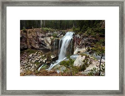 Falls At Newberry Framed Print by Adam Jewell