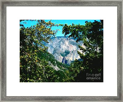 Falls Through The Trees Framed Print by The Kepharts