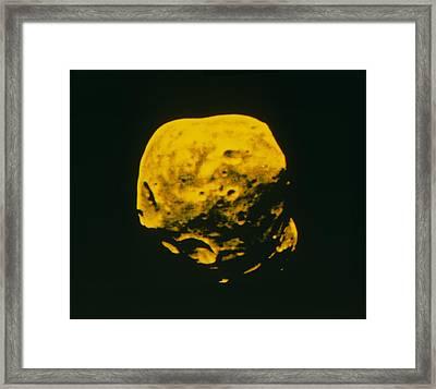 False-colour Image Of Phobos Framed Print by Ria Novosti
