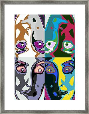 Familiar Faces Framed Print by Chris Butler