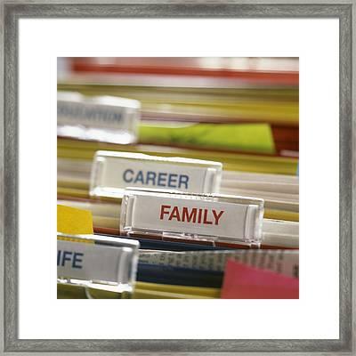 Family Before Career Framed Print by Tek Image