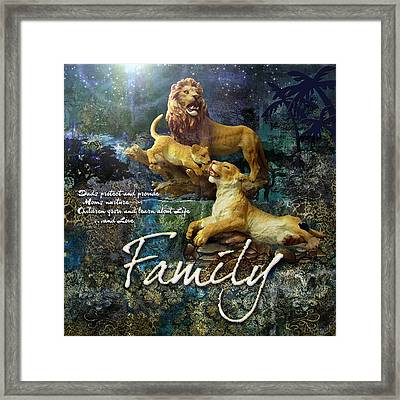 Family Framed Print by Evie Cook