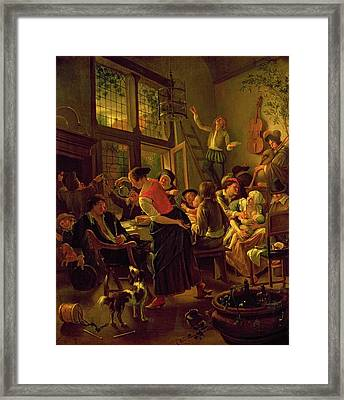 Family Meal Framed Print by Jan Havicksz Steen