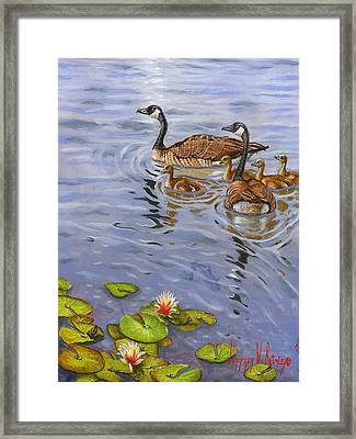 Family Outing Framed Print by Jeff Brimley