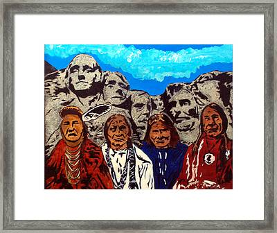 Famous Fathers Framed Print by Mike Holder